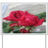 A001-RED ROSE Yard Sign