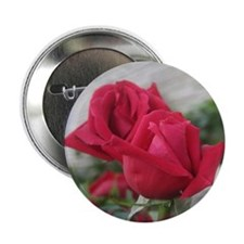 "A001-RED ROSE 2.25"" Button"
