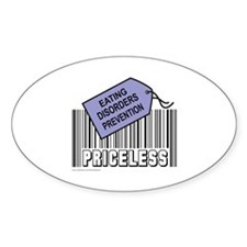 EATING DISORDERS PREVENTION Oval Bumper Stickers