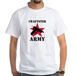 Craftster Army White T-Shirt