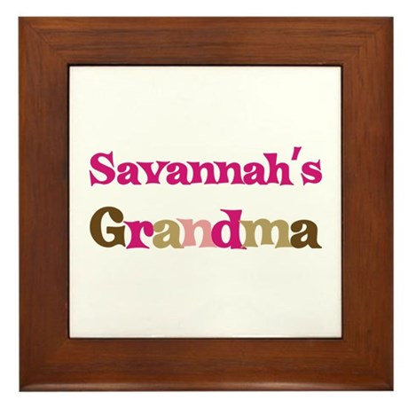 Savannah's Grandma Framed Tile
