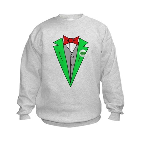 Irish Tuxedo T-Shirt Kids Sweatshirt