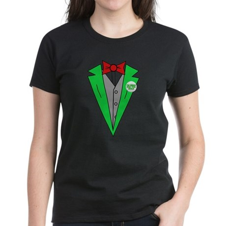 Irish Tuxedo T-Shirt Womens T-Shirt