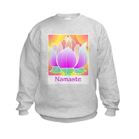 Bejeweled Lotus Flower Kids Sweatshirt