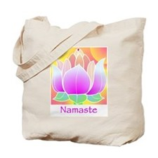 Bejeweled Lotus Flower Tote Bag