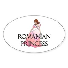 Romanian Princess Oval Decal