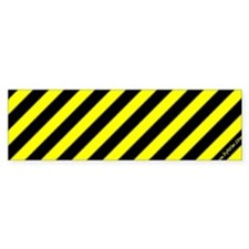 Yellow Stripes Bumper Bumper Sticker