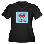 Table Tennis - Women's Plus Size V-Neck Dark T-Sh