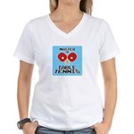 Table Tennis - Women's V-Neck T-Shirt