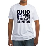 Ohio Votes for Clinton Fitted T-Shirt