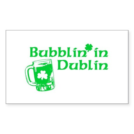 Bubblin' in Dublin Rectangle Sticker