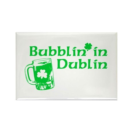 Bubblin' in Dublin Rectangle Magnet