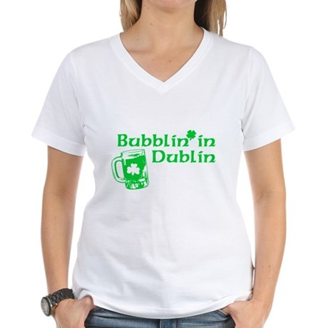 Bubblin' in Dublin Womens V-Neck T-Shirt