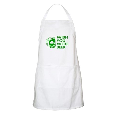 Wish You Were Beer BBQ Apron