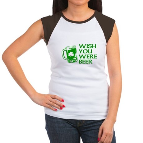 Wish You Were Beer Womens Cap Sleeve T-Shirt