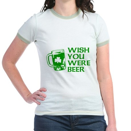Wish You Were Beer Jr Ringer T-Shirt