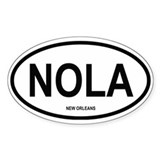 New Orleans Oval Bumper Stickers
