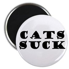Cats Suck Magnet BLACK