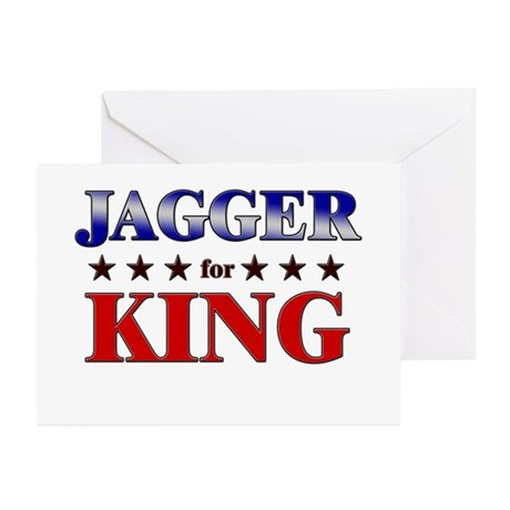 JAGGER for king Greeting Cards (Pk of 20)