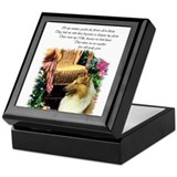 Collie Art Gifts Keepsake Box