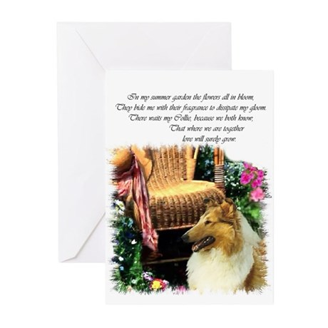 Collie Art Gifts Greeting Cards (Pk of 20)
