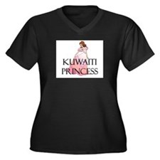 Kuwaiti Princess Women's Plus Size V-Neck Dark T-S