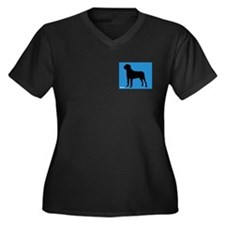 Mastiff iPet Women's Plus Size V-Neck Dark T-Shirt