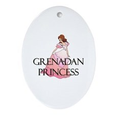 Grenadan Princess Oval Ornament