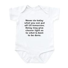Burr quotation Infant Bodysuit