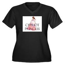 Cypriot Princess Women's Plus Size V-Neck Dark T-S