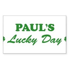 PAUL - lucky day Rectangle Decal