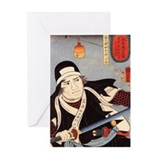 Kuniyoshi - Tomonomori unedited Greeting Card