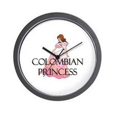 Colombian Princess Wall Clock