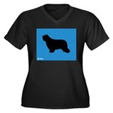 Collie iPet Women's Plus Size V-Neck Dark T-Shirt