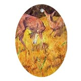 Deer in the Reed Oval Ornament