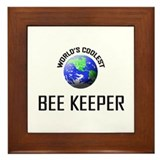 World's Coolest BEE KEEPER Framed Tile