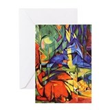 Deer by Franz Marc Greeting Card