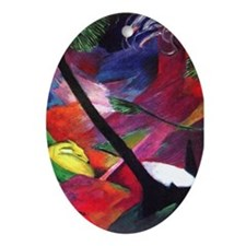 Deer by Franz Marc Ornament (Oval)