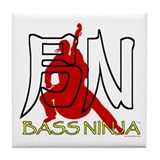 Bass Ninja Tile Coaster
