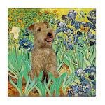 Lakeland T. & Irises Tile Coaster