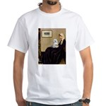 Whistler's Mother Maltese White T-Shirt