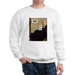Whistler's Mother Maltese Sweatshirt