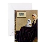 Whistler's Mother Maltese Greeting Cards (Pk of 10