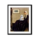 Whistler's Mother Maltese Framed Panel Print