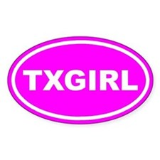 TX GIRL Pink Euro Oval Decal