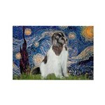 Starry Night / Landseer Rectangle Magnet (10 pack)