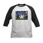 Starry Night / Landseer Kids Baseball Jersey