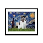 Starry Night / Landseer Framed Panel Print