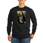 Mona and her Parti Pom Long Sleeve Dark T-Shirt