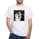 Ophelia / Poodle pair White T-Shirt